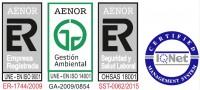Certificaciones de calidad y Medioambiente